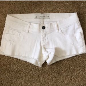 Gilly Hicks • Distressed Off White Denim Shorts